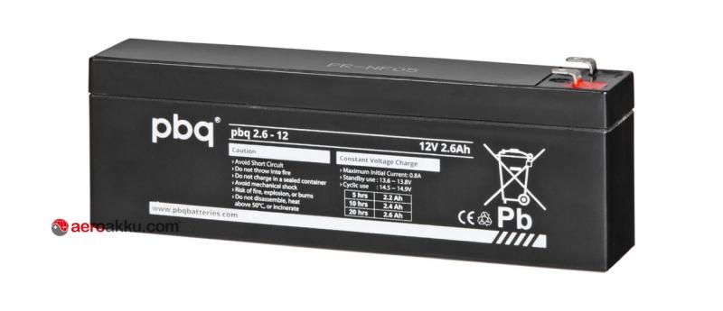 PBQ 2.6-12 2,6 Ah Vliestechnik AGM Akuu 12 V